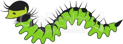 Big cartoon caterpillar