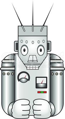 Cartoon retro robot