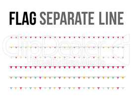 Vector colorful flag separate line design layout component