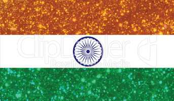 luxury red and blue glitter the Republic of India country flag i