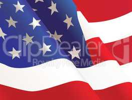 Waving United States USA country flag background