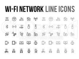 Wifi network vector line icon for app, mobile website responsive