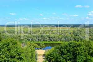 wild landscape from a bird's-eye view