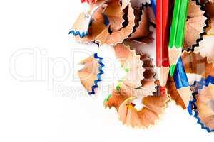 Color shavings pencils.