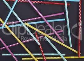 plastic tubes in a white polka-dot for drinks