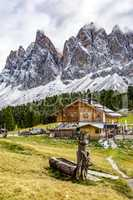 Nature Park Geisler-Puez with Geisler Alm in South Tyrol