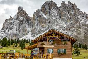 Nature Park Geisler-Puez with Gschnagenhardt Alm in South Tyrol