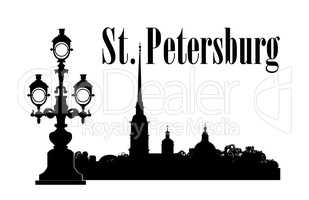 Saint-Petersburg city, Russia. St. Peter & Paul Cathedral Russian travel background.