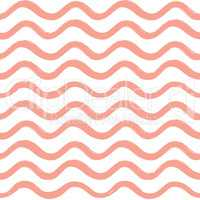 Abstract wave seamless pattern. Wavy line stripe background.