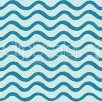 Abstract ocean wave seamless pattern. Wavy line stripe background.