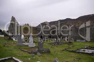 Ruins of Murrisk Abbey, County Mayo, Ireland