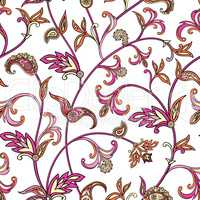 Floral seamless pattern. Oriental leaves background