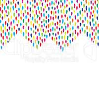 Abstract droplet tiled border pattern. Spot background