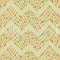 Abstract dot tiled pattern. Spot zig zag ornament.