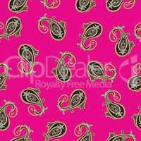 Floral pattern. Flourish oriental ethnic background. Arabic orna