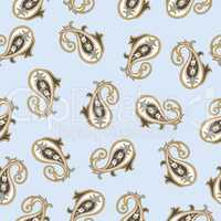 Abstract geometric pattern. Arabic ornament. Floral Oriental Bac