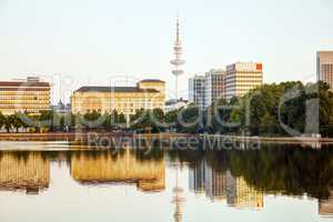 Hamburg cityscape overview