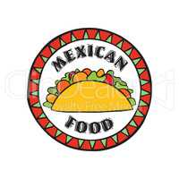 Mexican food icon.  Traditional cuisine of Mexico. Fastfood cafe