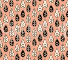 Floral seamless pattern with leaves. Ornamental floral background