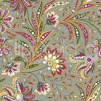 Floral seamless pattern. oriental ethnic background. with flowers
