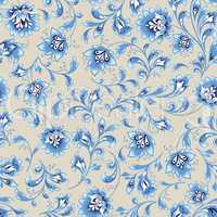 Floral seamless pattern. Flower swirl background. Ornamental orient easten painting