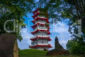Pagoda in the Park of Singapore