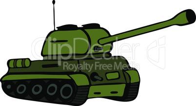 hand drawn green tank