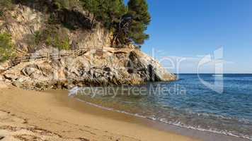 Nice detail of the Spanish coast in Costa Brava, Sant Antoni de Calonge