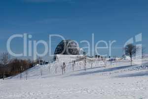 Winter landscape in winterberg, germany