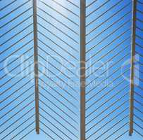 patterned white metal structure