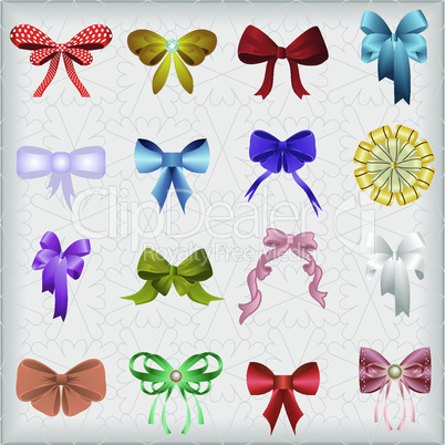 Decorated multi-colored bows