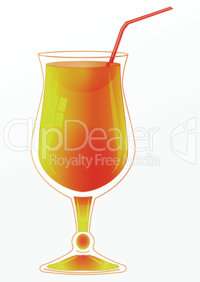 Glass with orange cocktail