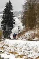Nostalgia railroad in winter
