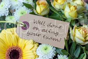 Greeting card to the passed exam
