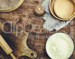 dough made from white wheat flour