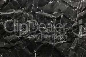 Black Crumpled Paper Background, black crumpled paper texture
