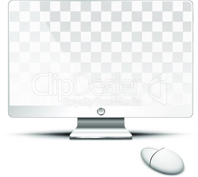Transparent flat screen