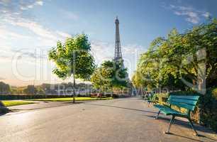 Garden Trocadero in Paris