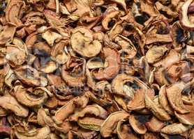 dried apples slices, full frame