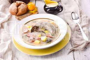Polish easter soup