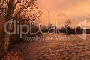 Der Fluss Lippe im Münsterland