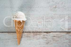 yoghurt ice cream wafer cone
