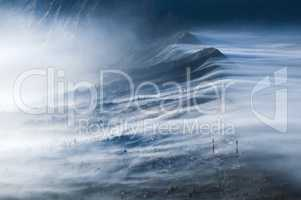 Mist Flowing over Cemoro Lawang