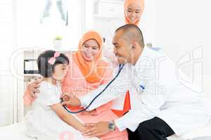 Family doctor and patient.