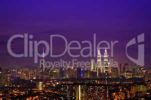 Kuala Lumpur skyline night Malaysia