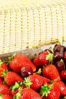 Strawberries and cherries.