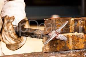 Blacksmith working