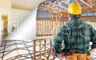 Contractor Facing Construction Framing with Page Corner Flipping