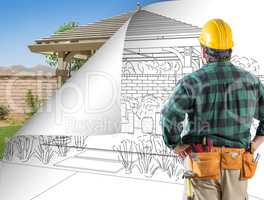 Contractor Facing Pergola Drawing with Page Flipping to Complete