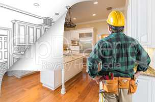 Contractor Facing Kitchen Photo with Page Corner Flipping to Dra